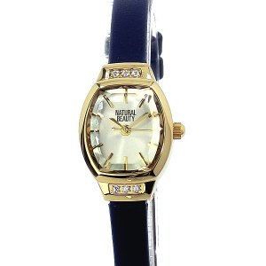 ナチュラルビューティー レディース 腕時計 NB004YCHBL レザー NATURAL BEAUTY【アウトレット特価】|pre-ma