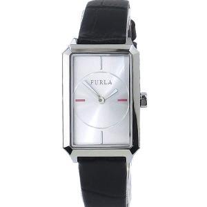 フルラ 腕時計 レディース 4251104505  FURLA DIANA スクエア  SV/ブラック  レザー アウトレット|pre-ma