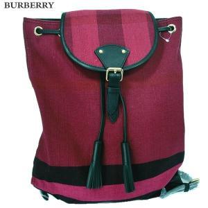 BURBERRY バーバリー リュックサック/バックパック キャンバス PLUM/プラム 4012571  レディース|pre-ma