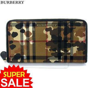 BURBERRY バーバリー 長財布 ラウンドファスナー 3996534  HONEY BLACK カモフラージュ 新品 決算SSP|pre-ma