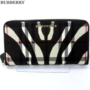 BURBERRY バーバリー 長財布 ラウンドファスナー 4003898 ストーン ブラック 新品|pre-ma