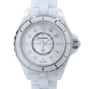 【アウトレット展示品】シャネル CHANEL レディース 腕時計 H2570 J12 29MM ホワイトセラミック 8Pダイヤモンド|pre-ma