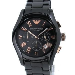 【アウトレット展示品】エンポリオ アルマーニ  EMPORIO ARMANI  AR1410 メンズ 腕時計  ブラックセラミック クロノグラフ|pre-ma