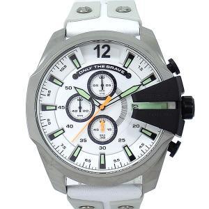 ディーゼル DIESEL メガチーフ DZ4454 メンズ腕時計 クロノグラフ ホワイト|pre-ma