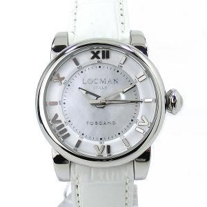 【アウトレット展示品】ロックマン レディース 腕時計 LOCMAN 595-V12 TOSCANO  33mm ホワイト|pre-ma