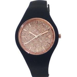ICE WATCH アイスウォッチ ICE GLITTER BLACK スモール 34mm レディース レディース 腕時計 ブラック【アウトレット箱不良】|pre-ma
