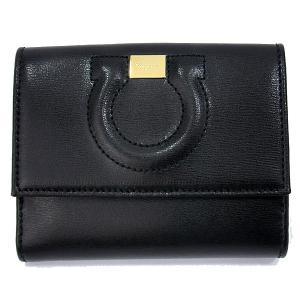 フェラガモ  レディース 財布 二つ折り 22C844 667925 NERO ブラック  Salvatore Ferragamo|pre-ma