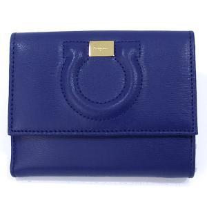 フェラガモ  レディース 財布 二つ折り 22C844 667926 ROYAL/ブルー  Salvatore Ferragamo|pre-ma