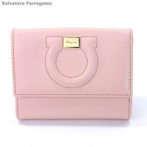 フェラガモ  レディース 財布 二つ折り 22C844 667927 ライトピンク  Salvatore Ferragamo|pre-ma