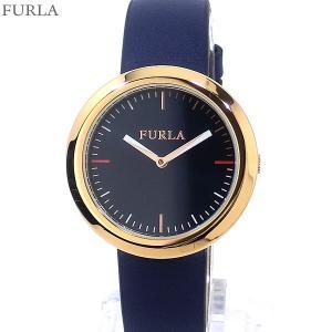 フルラ 腕時計 レディース 4251103521  FURLA VALENTINA 34mm PG/ネイビー レザー アウトレット特価|pre-ma