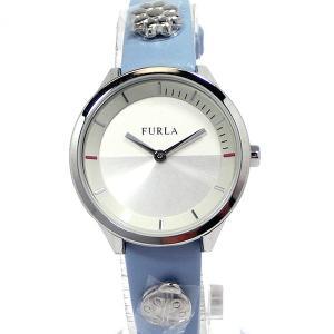 フルラ 腕時計 レディース R4251112508  FURLA PIN COLLECTION シルバー/ライトブルー レザー 新品アウトレット pre-ma