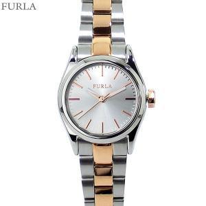 フルラ 腕時計 レディース 4253101518  FURLA EVA 25mm PG/SV コンビ ステンレス アウトレット|pre-ma