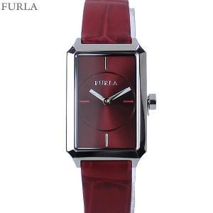 フルラ 腕時計 レディース 4251104504  FURLA DIANA スクエア レザー レッド|pre-ma