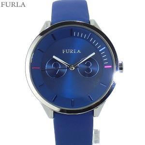 フルラ 腕時計 レディース 4251102504 38mm  FURLA METROPOLIS ブルー レザー アウトレット|pre-ma