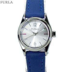 フルラ 腕時計 レディース 4251101506  FURLA EVA 25mm シルバー/ブルー レザー アウトレット|pre-ma
