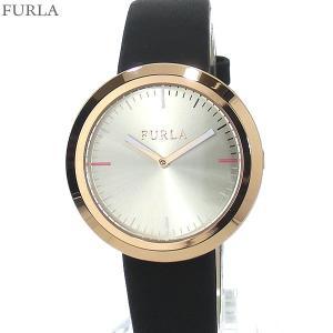 フルラ 腕時計 レディース 4251103503  FURLA VALENTINA 34mm PG/ブラック レザー アウトレット特価|pre-ma