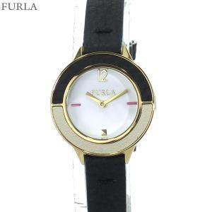 フルラ 腕時計 レディース 4251109512  FURLA CLUB 26mm YG/BK レザー 替えベゼル付【アウトレット特価】|pre-ma