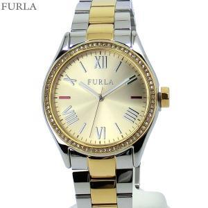 フルラ 腕時計 レディース 4253101514  FURLA EVA 35mm ゴールド&シルバー クリスタル ステンレス アウトレット|pre-ma