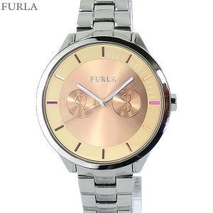 フルラ 腕時計 レディース 4253102505  FURLA METROPOLIS 38mm シルバー/ローズフェイス ステンレス アウトレット特価|pre-ma