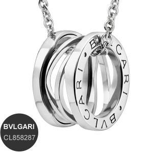 ブルガリ ネックレス BVLGARI  ビーゼロワン B-Zero1 K18 ホワイトゴールド Ref.354611 CL858287 新品|pre-ma