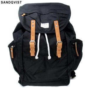 SANDQVIST サンドクヴィスト リュック/バックパック SQA330 LARS-GORAN BACKPACK ブラック CORDURAナイロン|pre-ma