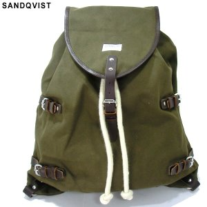 SANDQVIST サンドクヴィスト リュック/バックパック SQA368 OSCAR BACKPACK OLIVE/オリーブ キャンバス|pre-ma