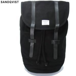 SANDQVIST サンドクヴィスト リュック/バックパック SQA181 STIG BACKPACK BLACK/ブラック キャンバス 決算SSP|pre-ma