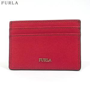 FURLA フルラ カードケース BABYLON S CREDIT CARDCASE 922283 PU01 B30 RUB RUBBY ルビー 158197|pre-ma