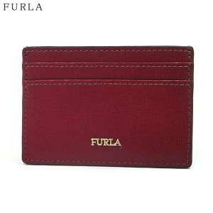 FURLA フルラ カードケース BABYLON S CREDIT CARDCASE 978969 PU01 B30 CGQ CILIEGIA ダークレッド 158196|pre-ma