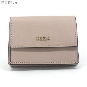 FURLA フルラ 財布 三つ折り ショート  BABYLON S TRI-FOLD / 993902 PZ12 E35 TUK DALIA ベージュ系|pre-ma