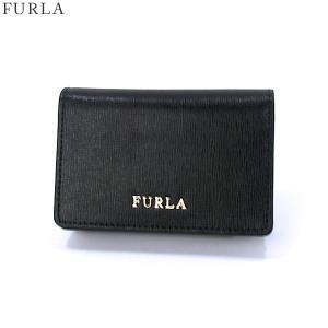 【アウトレット訳あり】FURLA フルラ カードケース/名刺入れ BABYLON  874701 PS04 B30 O60 ONYX ブラック|pre-ma