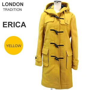 ロンドントラディション ERICA ダッフルコート ロング レディース LT-01 イエロー サイズ36/38  新品 決算SSP|pre-ma