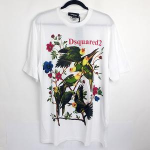 DSQUARED2 Tシャツ メンズ  サイズ(表記M) S71GD0753 S21600 100 ホワイト 未使用品 N-09|pre-ma