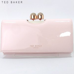 TED BAKER テッドベイカー 長財布 二つ折り 140793 XA7W XL87 59  PALE PINK/エナメルピンク【アウトレット特価】|pre-ma