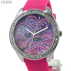 GUESS WATCH ゲス ウォッチ レディース 腕時計 W0960L1 GETAWAY ピンク ラバー 44mm 新品 決算SSP|pre-ma