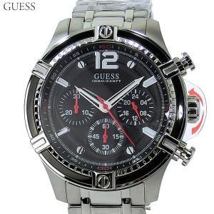 GUESS WATCH ゲス ウォッチ メンズ 腕時計 W0968G1 CIRCUIT クロノグラフ ステンレス ブラック 46mm 新品|pre-ma