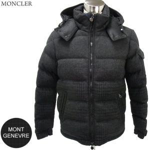 モンクレール ダウン ジャケット ツイード ウール MONTGENEVRE メンズ 999/ダークグレー チェック MONCLER|pre-ma