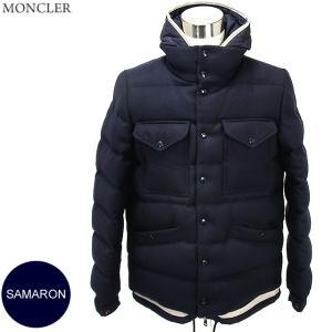 モンクレール ダウンジャケット ツイードウール SAMARON メンズ 742/ダークネイビー  サイズ(3)限定  MONCLER|pre-ma