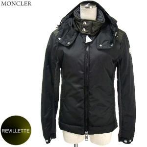 モンクレール ダウンジャケット REVILLETTE メンズ  999/ブラック&カーキ・グレー  サイズ(0)限定  MONCLER|pre-ma