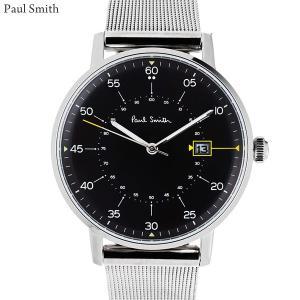 Paul Smith ポールスミス 腕時計 メンズ Gauge P10131 ステンレス スライドベルト 40mm シルバー/ブラック 新品|pre-ma