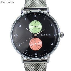 Paul Smith ポールスミス 腕時計 メンズ Track  PS0070006 ステンレス スライドベルト 42mm シルバー/ブラック 新品|pre-ma