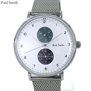 Paul Smith ポールスミス 腕時計 メンズ Track  PS0070007 ステンレス スライドベルト 42mm シルバー/ホワイト 新品|pre-ma