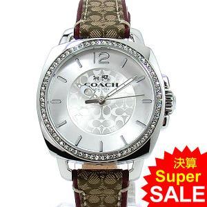 コーチ COACH  レディース腕時計 14502415 ボーイフレンド 34mm シグネチャー ブラウンレザー 新品|pre-ma