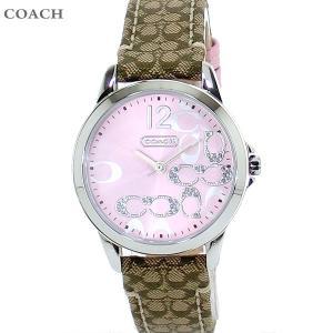 コーチ COACH  レディース 腕時計 シグネチャー 14501621 ピンク レザー|pre-ma