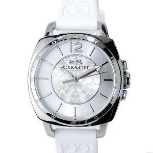 コーチ COACH  レディース 腕時計 14502093 ボーフレンドミニ  ホワイト ラバー|pre-ma