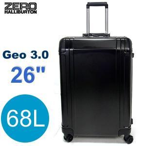 【アウトレット 限定1点特価】ゼロハリバートン スーツケース/キャリーケース Geo3 ZRG2526-BK アルミニウム ブラック 68L 26インチ|pre-ma