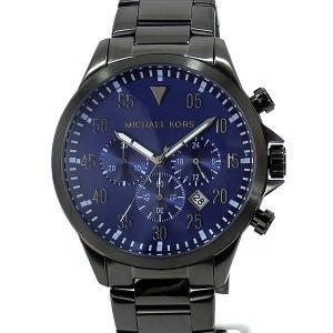 マイケルコース メンズ 腕時計 MK8443 クロノグラフ ガンメタ ネイビー MICHAEL KORS アウトレット|pre-ma