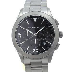 マイケルコース メンズ 腕時計 MK8469 クロノグラフ マットシルバー ブラック MICHAEL KORS アウトレット|pre-ma