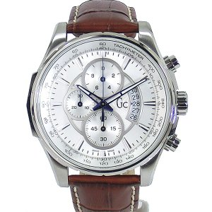 GC ジーシー メンズ腕時計 X81001G1S Gc TechnoClass クロノグラフ SV/BR レザー  SWISS MADE GUESS 新品|pre-ma
