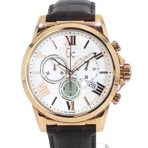 GC ジーシー メンズ腕時計 Y08006G1 ESQUIRE クロノグラフ ステンレス  SWISS MOVEMENT GUESS 新品|pre-ma